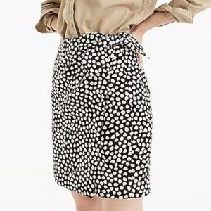 J Crew Black/Gold Jacquard Skirt